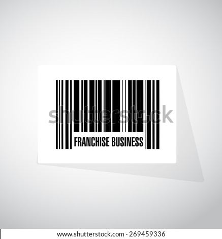 franchise business upc code sign illustration design over white - stock photo
