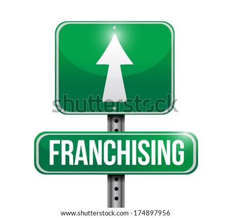 franchising sign illustration design over a white background - stock photo