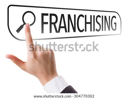 Franchising written in search bar on virtual screen - stock photo