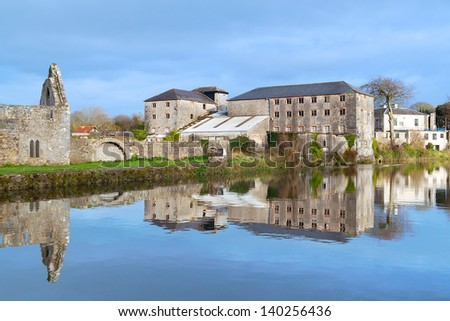 Franciscan Friary in Askeaton, Co. Limerick, Ireland - stock photo