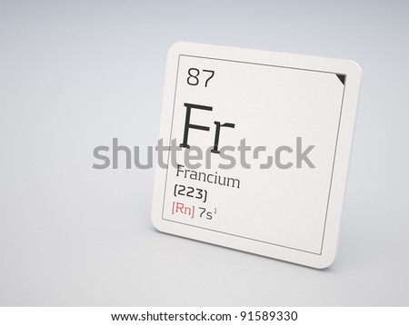 Francium - element of the periodic table