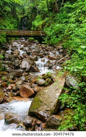 Franconia Notch State Park - stock photo