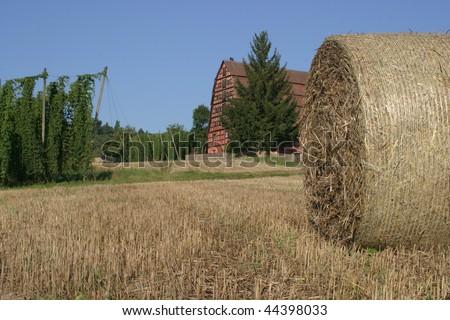 franconian landscape - stock photo