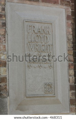 Frank Lloyd Wright Architect business sign - stock photo