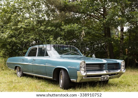 Franken, Germany, 21 June 2015: US vintage car Star Chief  - stock photo