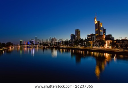 Frankfurt am Main at night
