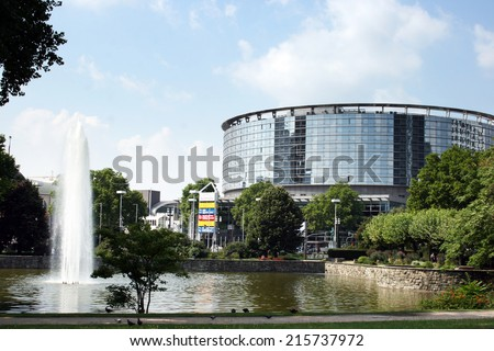 FRANKFURT AM MAIN, GERMANY, July The 31st 2014: Messe Frankfurt - International trade fairs, cutting-edge congresses and spectacular events.