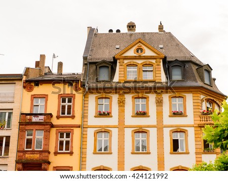 FRANKFURT AM MAIN, GERMANY - JUNE 11, 2015: Architecture of the Old town of Frankfurt am Main, Germany. Frankfurt is the largest city in the German state of Hesse