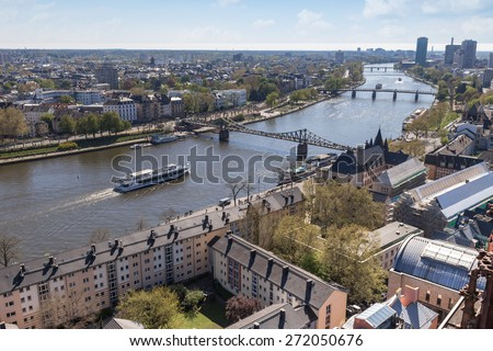 frankfurt am main germany with the main river