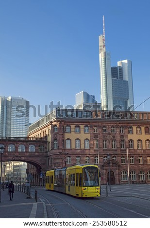 Frankfurt city view - stock photo