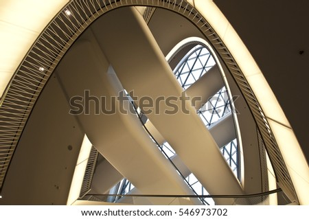FRANKFURT,GERMANY-JUNE 29:interior of modern office building on June 29,2014 in Frankfurt,Germany.