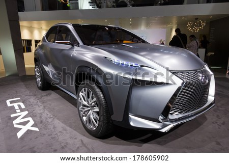 FRANKFURT, GERMANY - SEP 20: Lexus LF-NX concept car at the IAA motor show on Sep 20, 2013 in Frankfurt. More than 1.000 exhibitors from 35 countries are present at the world's largest motor show.