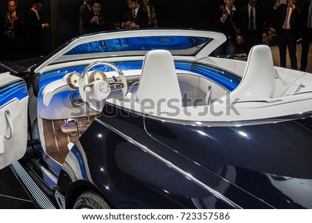 Frankfurt, Germany, SEP 12-24, 2017: Show car: Vision Mercedes-Maybach 6 Cabriolet at 67th International Motor Show (IAA)