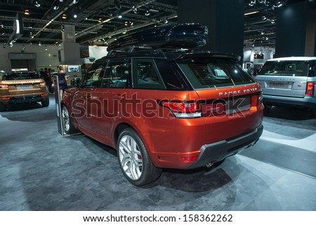 FRANKFURT, GERMANY - SEPTEMBER 11: Frankfurt international motor show (IAA) 2013. Range Rover Sport new generation