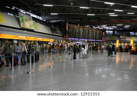 Frankfurt International Airport interior. - stock photo