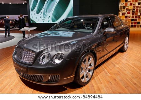FRANKFURT - SEP 17: Bentley Continental Flying Spur car shown at the 64th Internationale Automobil Ausstellung (IAA) on September 17, 2011 in Frankfurt, Germany.
