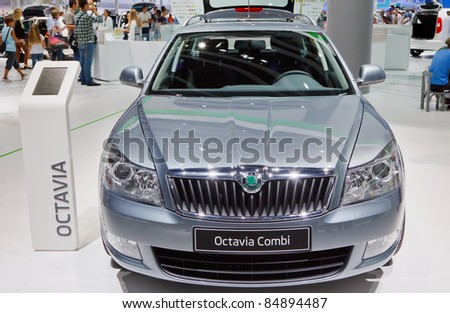 FRANKFURT - SEP 17: Skoda Octavia Combi car shown at the 64th Internationale Automobil Ausstellung (IAA) on September 17, 2011 in Frankfurt, Germany.