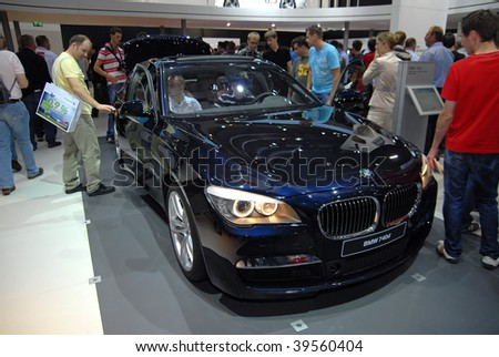 FRANKFURT - SEPT. 20: A BMW 740d - Efficient Dynamics is shown at the 63rd IAA (Internationale Automobil Ausstellung) on September 20, 2009 in Frankfurt, Germany.
