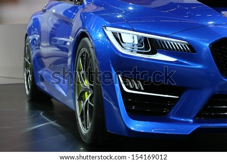 FRANKFURT - SEPT 10: Details of Subaru WRX Concept shown at the 65th IAA (Internationale Automobil Ausstellung) on September 10, 2013 in Frankfurt, Germany. - stock photo