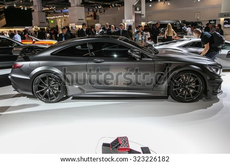 FRANKFURT - SEPT 15: Mansory Mercedes S Class Coupe AMG S63 shown at the 66th IAA (Internationale Automobil Ausstellung) on September 15, 2015 in Frankfurt, Germany. - stock photo