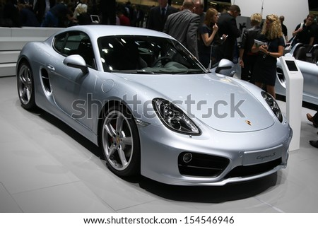 FRANKFURT - SEPT 10: Porsche Cayman S shown at the 65th IAA (Internationale Automobil Ausstellung) on September 10, 2013 in Frankfurt, Germany.