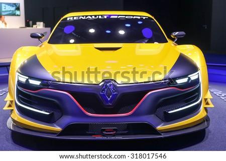 FRANKFURT - SEPT 16: Renault Sport R.S. 01 shown at the 66th IAA (Internationale Automobil Ausstellung) on September 16, 2015 in Frankfurt, Germany. - stock photo