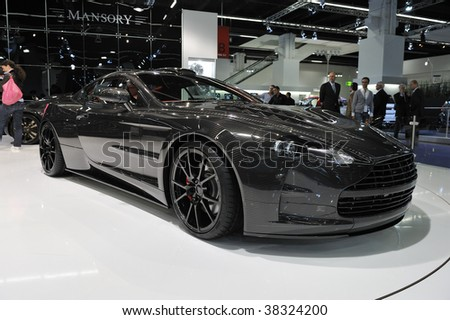 FRANKFURT - SEPTEMBER 14: Carbon Bodied Aston Martin by Mansory on display at the International Motor Show on September 14, 2009 in Frankfurt, Germany.