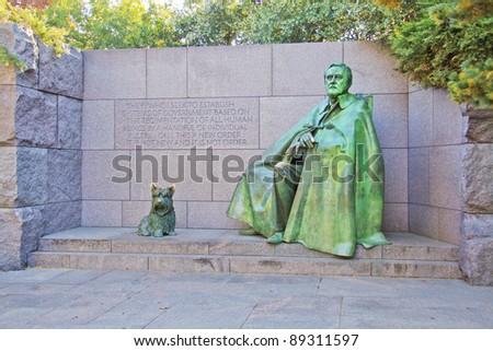 Franklin Delano Roosevelt Memorial in Washington DC, USA - stock photo