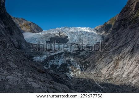Franz Josef Glaciers, New Zealand's Glazier Country - stock photo
