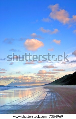 Fraser Island, Australia is the largest sand island in the world - stock photo