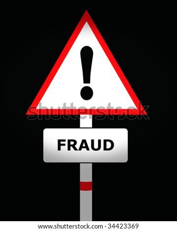 fraud warning sign - stock photo