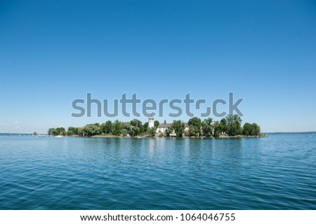 Frauenchiemsee island, view from the lake