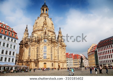 Frauenkirche cathedral in Dresden  - stock photo