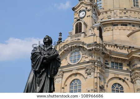 Frauenkirche Dresden, Germany - stock photo