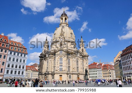 Frauenkirche - Dresden, Germany - stock photo