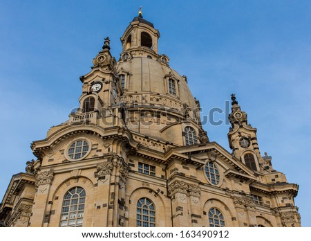 Frauenkirche in Dresden Germany - stock photo