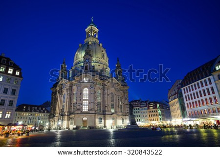 Frauenkirche or Church of Our Lady cathedral  - stock photo