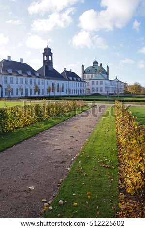 Fredensborg Castle is a beautiful Baroque-style palace for the Royal Family located on the eastern shore of Lake Esrum on Zealand, Denmark