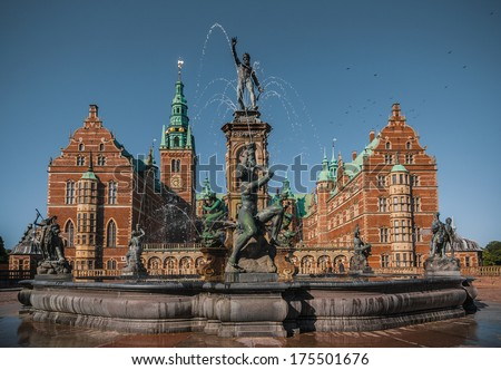 Frederiksborg castle - stock photo