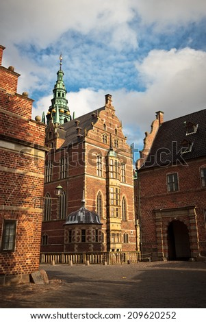 Frederiksborg slot old residence of danish kings in Hilleroed, Denmark