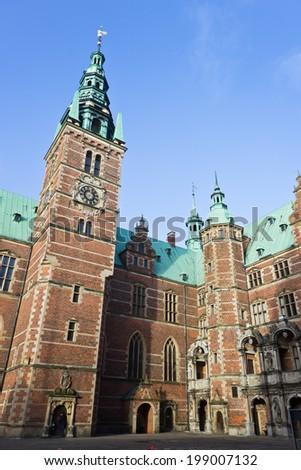 Fredriksborg Castle biuld for king  Christian IV in Hillerod, Denmark - stock photo