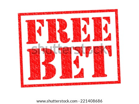 FREE BET red Rubber Stamp over a white background. - stock photo