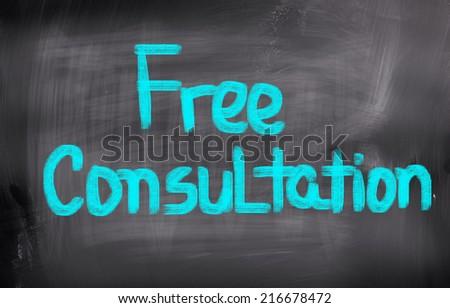 Free Consultation Concept - stock photo