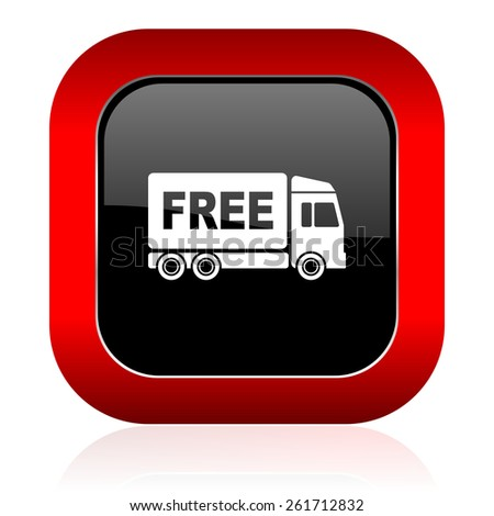 free delivery icon transport sign  - stock photo