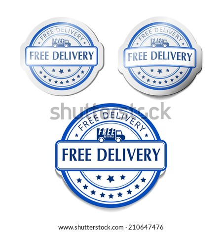 Free delivery label sign  - stock photo