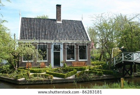 Free entrance open air museum Zaanse Schans in Holland is a well known touristic attraction