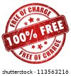 Free grunge stamp - stock photo