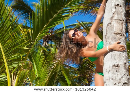 Free Happy Woman Enjoying Nature. Beauty Romantic Girl Outdoors. Freedom concept.  - stock photo