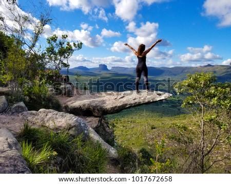 Free Happy Woman Enjoying Nature in Chapada Diamantina, Bahia, Brazil