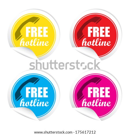 Free Hot Line stickers set -  jpeg format.